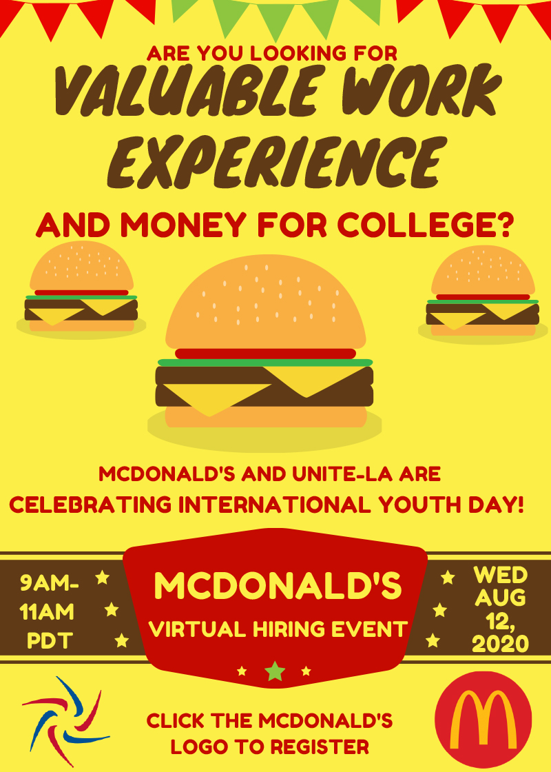 McDonald's Youth Day Hiring Event