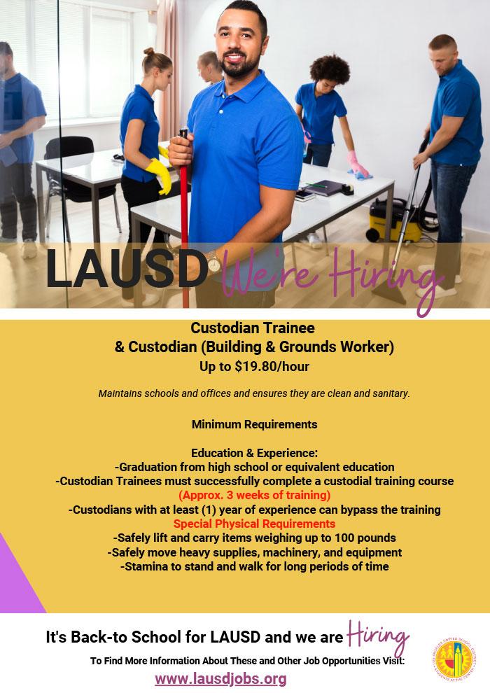 Custodian job at lausdjobs.org!