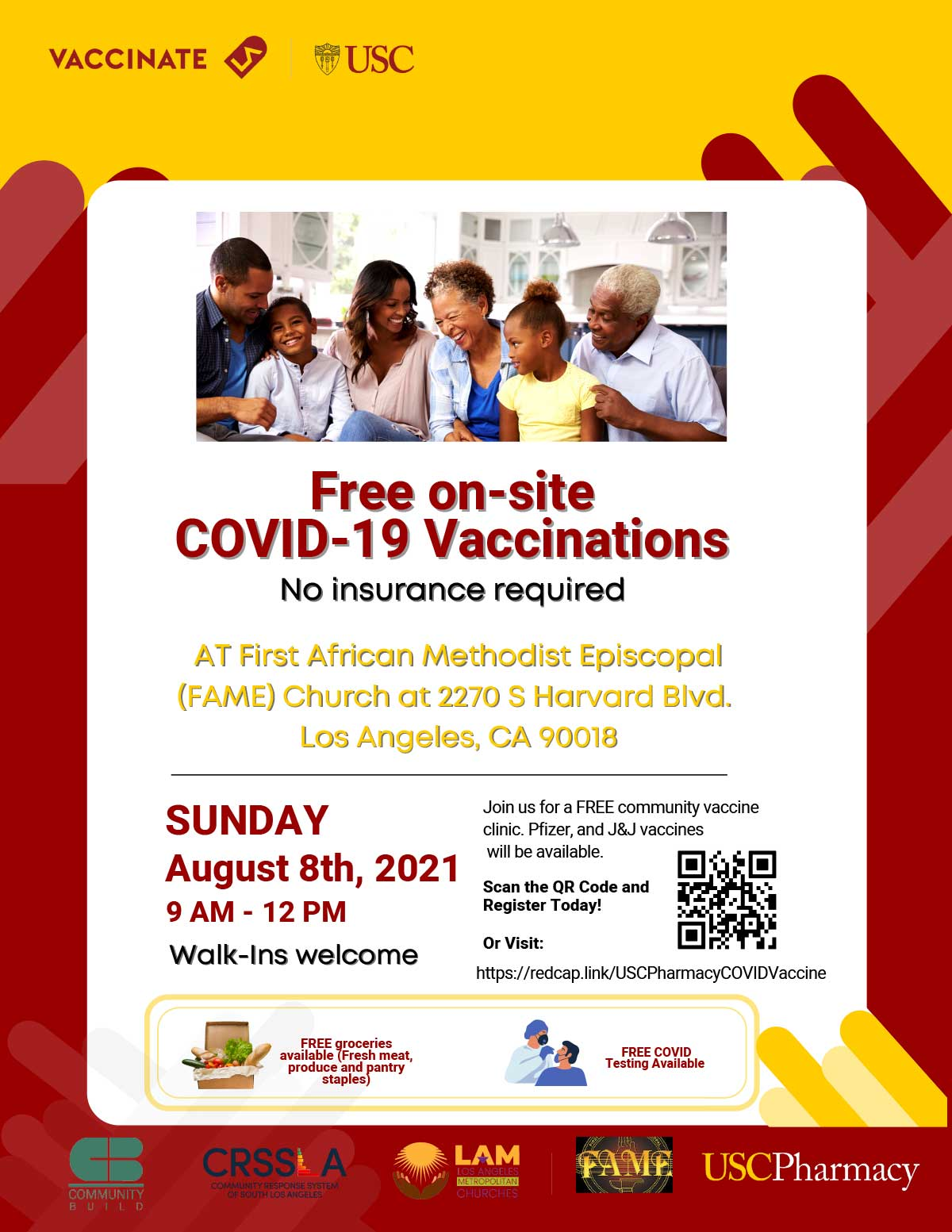 Free on-site COVID-19 Vaccinations